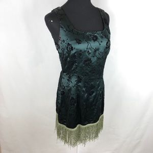 Vintage Dresses - Cute little vintage satin brocade dress